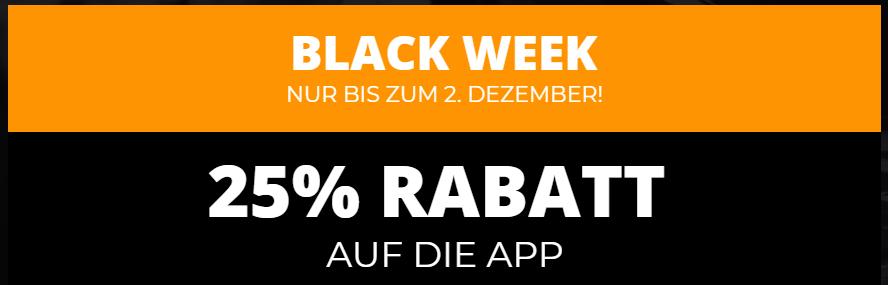 Carly Black Week 2019 25% Rabatt auf die App